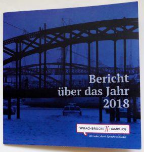 Titelbild des Jahresberichts von Sprachbrücke-Hamburg e.V.
