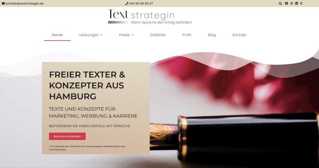 Startseite Textstrategin Suzana Jordanovic