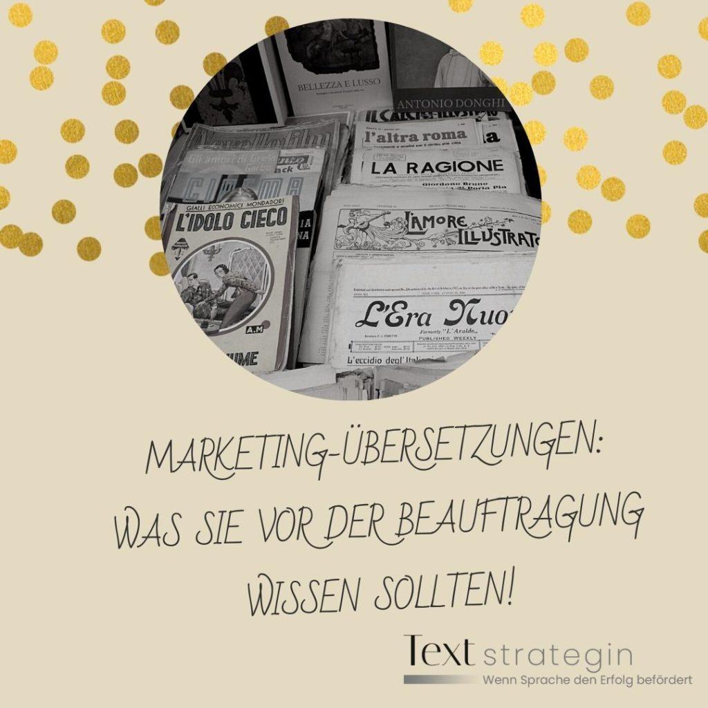 Marketing-Übersetzung: Was Sie vor der Beauftragung wissen sollten. Textstrategin Suzana Jordanovic